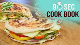 How To Make Paratha Sandwich - 90 Seconds Cook Book - Quick Sandwich Recipe - Paratha - Easy Snacks