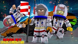 ROBLOX SPACE SIMULATOR - DONUT AND ROPO ARE THE FIRST TO ENTER SPACE IN ROBLOX!!