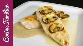 Pechugas de pollo con salsa cremosa de champiñones, recetas para dieta  Recetas de Javier Romero