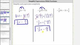 Simplify Variable Expressions With Fractions Using Distribution