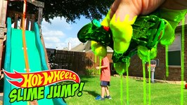 Hot Wheels Cars Slime Jump Challenge For Shark Week - Hot Wheels Stunt
