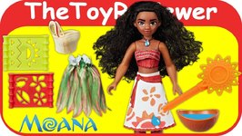 Disney Moana Stencil 'n Design Hasbro Doll Stencil Design Unboxing Toy Review