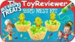 Kellogg's Rice Krispies Treats Bird Nest Kit Easter Snack Unboxing Toy Review by TheToyReviewer