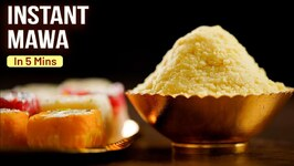 How To Make Mawa In 5 Mins - 3 Ingredients Mawa - MOTHER'S RECIPE - Instant Mawa Recipe At Home