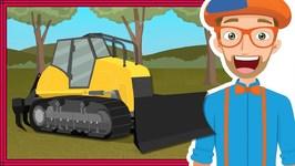 Blippi Bulldozer - Educational Construction Trucks for Children