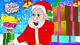 We Wish You A Merry Christmas - Rhymes For Kids - Bottle Squad Christmas Song - Superheroes For Kids