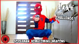 Dude Perfect Challenge Nerf Web Shooter Trick Shots Silly String Toys Hope And Noah