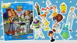 Toy Story 4 My Busy Books with 10 Figurines Bo Peep Woody Buzz Lightyear