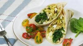 Feta And Spinach Breakfast Wraps