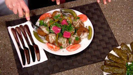 Chef Violett And Samantha Younes - Falafel And Stuffed Grape Leaves