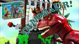 Dinosaurs - Playmobil The Explorers Set - T-Rex Jurassic Dino Adventure 9429