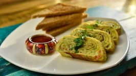 Anda Apna Apna - How To Cook Perfect Egg Rolls - Layered Egg Omelette Recipe