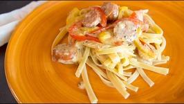Sausage Cajun Alfredo Pasta