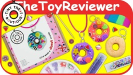 Tiny Treat Boutique Donut Charm Kit DIY Craft Polymer Clay Unboxing Toy Review