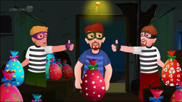 ChuChu TV Police Chase Thief in Police Boat and Save Huge Surprise Egg Toys Gifts from Creepy Ghosts