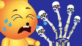 Upin Ipin Finger Family - Skeleton Finger Family - Malaysian Nursery Rhyme For Children