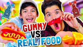 GUMMY Vs REAL FOOD - ft My Little Brother