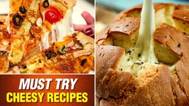 3 Must Try Cheese Recipes/ Bread Fondue / Cheese Burst Pizza / Cheese Balls/Mozzarella Cheese Recipe