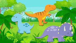 Counting Dinosaurs - Counting Game for Toddlers