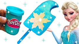 DIY How To Make Play Doh Ice Cream Popsicle Sparkle Modelling Clay Fun Elsa Learn Colors Play Dough