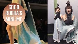 Coco Rocha Struts The Paris Runway With Daughter Ioni