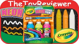 Crayola Washable Sidewalk Neon Paint Tray Unboxing Toy Review