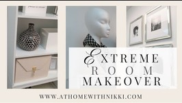 Extreme Room Makeover On A Budget  Small Space Organizing