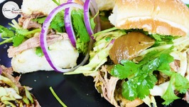 Shredded Pulled Pork Sliders - Overnight Recipe Big Batch Superbowl