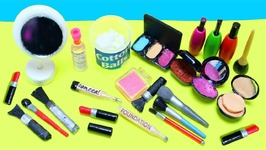 10 Easy DIY 100 REAL Miniature Makeup / Cosmetic Products - Each in less than 1 minute