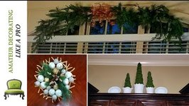 Christmas Window SWAG Cabinet Ledges Mantle & More