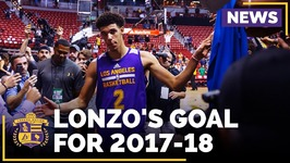 Lonzo Ball's Goal For His Rookie Season With The Lakers