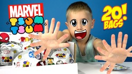 Marvel Superheroes Tsum Tsum Surprise Blind Bags Unboxing With Disney Avengers Toys