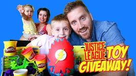 Justice League Toys Superhero Play-Doh Surprise Egg And Toy Opening Giveaway Contest