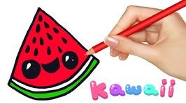 Kawaii Food How To Draw Food Watermelon Slice Video By