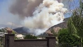 Wildfire Spews Smoke Near Lakeside, California