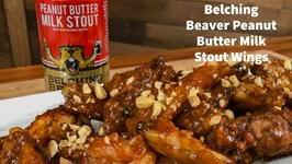 Belching Beaver Peanut Butter Milk Stout Chicken Wings
