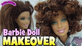 How To Curl Barbie Doll Hair Doll Makeover