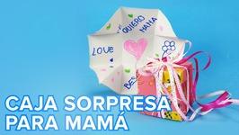 Caja tarjeta sorpresa para el Día de la Madre  Manualidades para niños