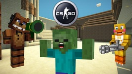 FNAF vs Mobs: CS:GO Challenge (FULL MOVIE) - Minecraft Animation (Five Nights At Freddy's)