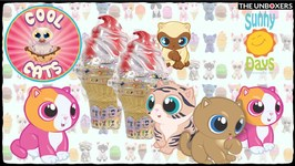 Cool Cats Flippable Cat/ Ice Cream Plushes by Sunny Days