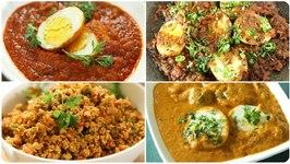 Best Egg Main Course Recipes / Must Try Egg Recipes / Egg Bhurji / Egg Masala / Egg Curry