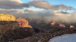 Dusting of Snow Blankets Grand Canyon for First Day of Winter
