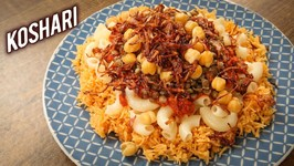 How To Make Koshari - Egyptian Koshari Street Food Recipe - Koshari Recipe By Varun - Kushari