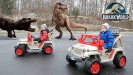 Jurassic World Toys For Kids - Power Wheels and Fun Dinosaur Races - Chase and Cole Adventures