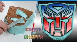Transformers - Autobot Logo Cake (How To)