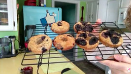 Baking Blueberry Muffins In A Donut Pan (Live Uncut)