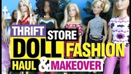 Thrift Store Barbie Doll Fashion Haul and Makeover