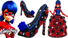 Miraculous Ladybug Play Doh Sparkle Glitter Dress Shoes High Heel Making with Play Doh Toys for Kids