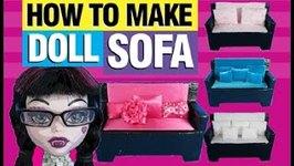 How to Make a Doll Sofa