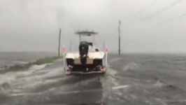 Roads Flooded in Grand Isle as Tropical Storm Cindy Approaches